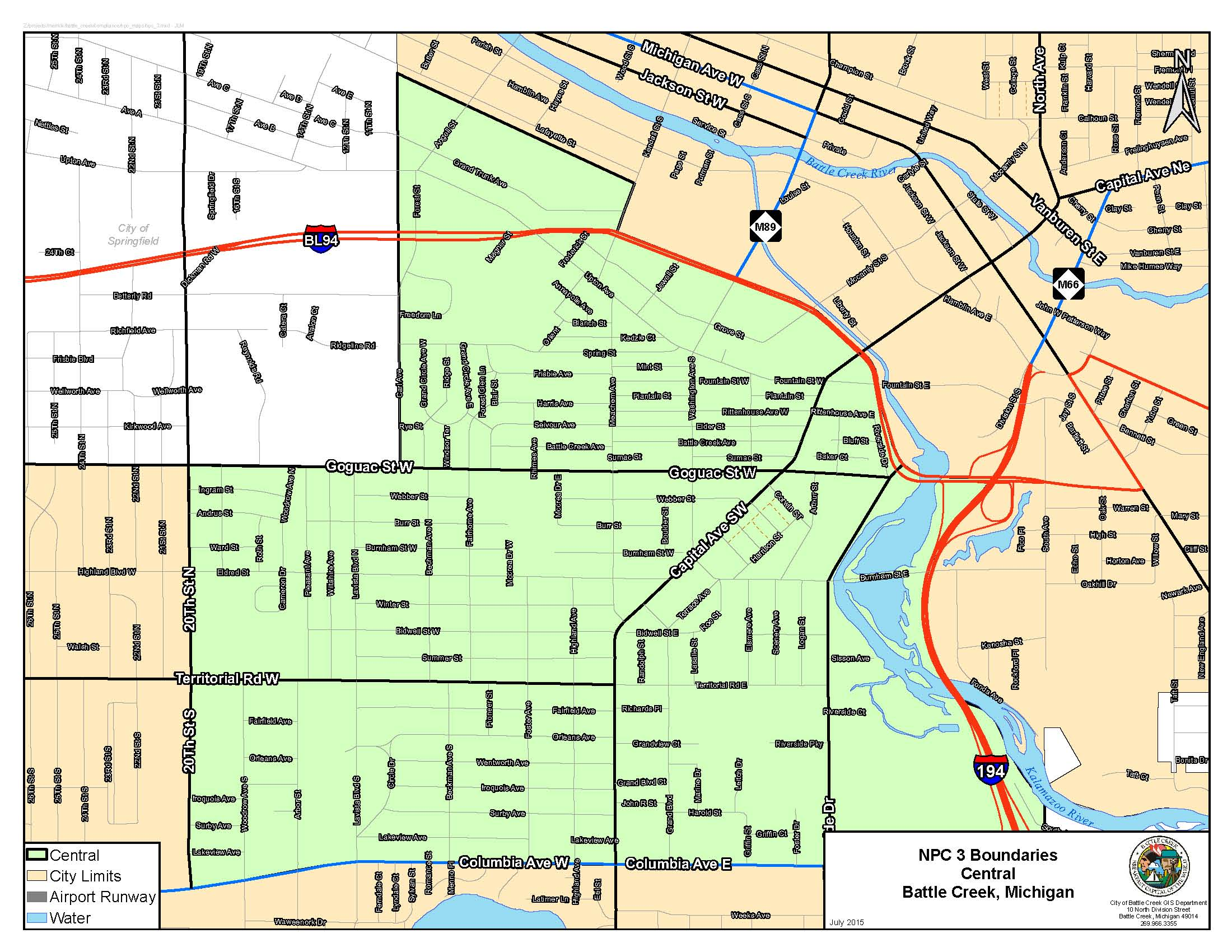 Neighborhood Planning Councils Battle Creek MI