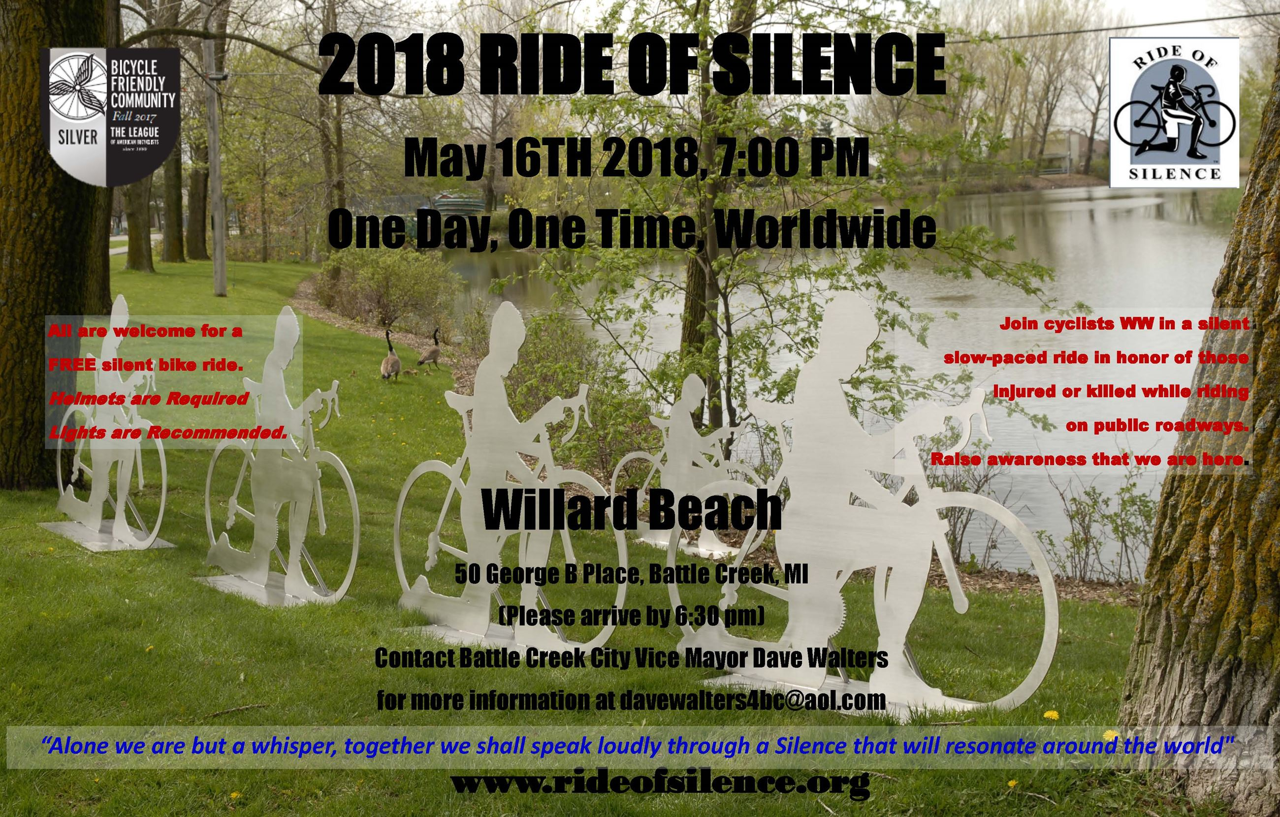 2018 Ride of Silence Poster