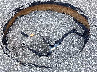 South Helmer Road sink hole June 23, 2019