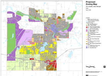 Zoning map draft image 2020