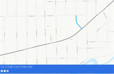 Public Works construction project map