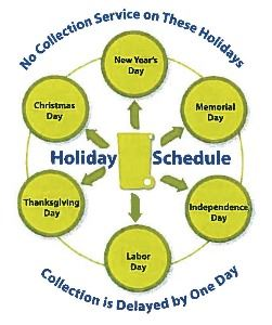 Waste Management holiday schedule