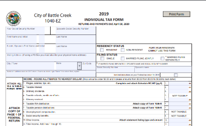 2019 income tax form