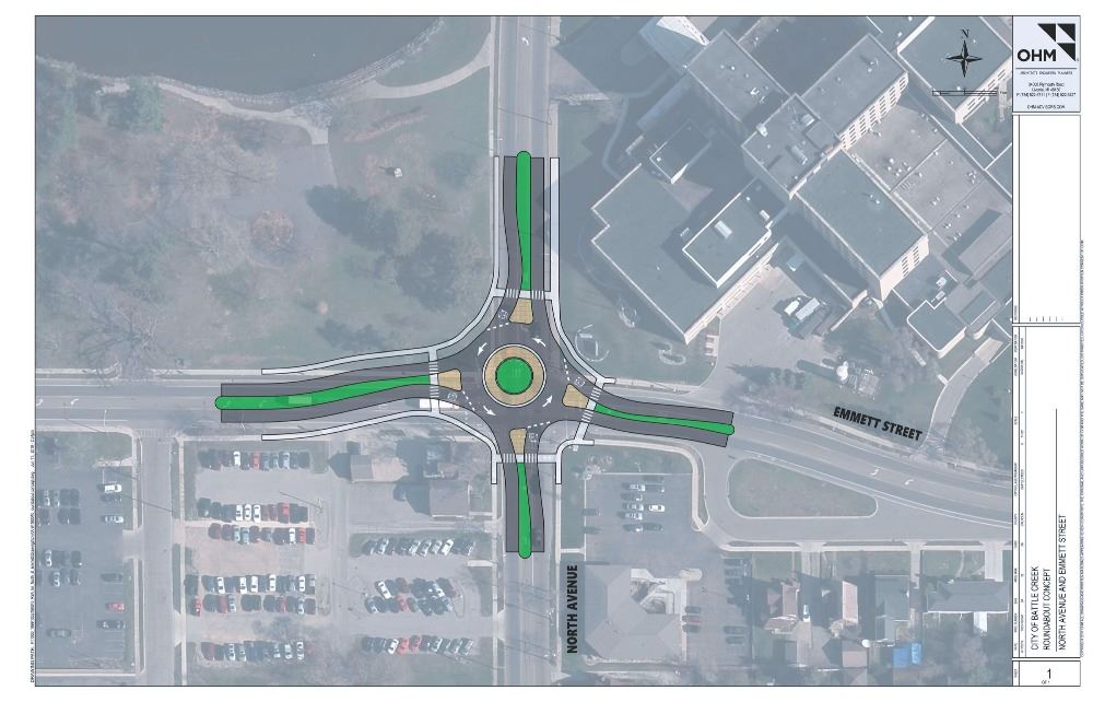 North and Emmett roundabout rendering